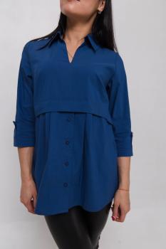 Блузка Тори синяя