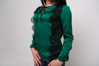 Блузка Лана зелёная