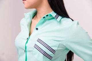 Рубашка Регина цвет светло-зелёный