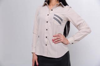 Рубашка Регина цвет бежевый