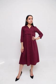 Платье Тори цвет бордовый