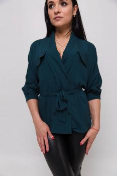 Блузка Элина тёмно-зелёная