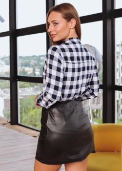Женская рубашка Дана черно-белая