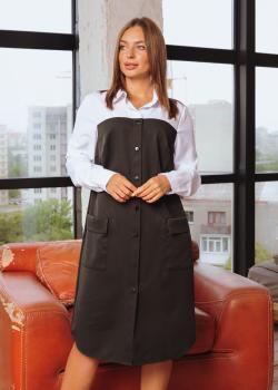 Платье-рубашка Белла цвет черный