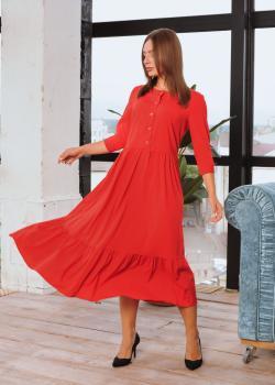 Платье Анита XL-XXL красное