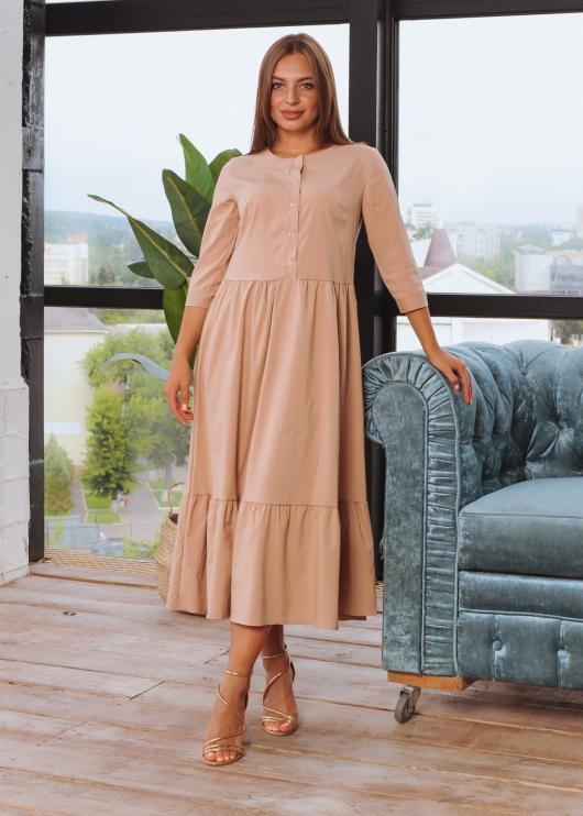 Платье Анита XL-XXL бежевое