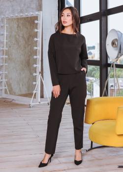 Женский костюм (кофта + брюки) черный