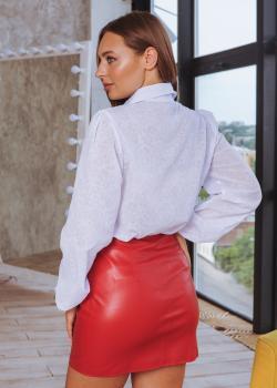 Женская юбка Змейка красная