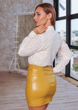 Женская юбка Змейка желтая
