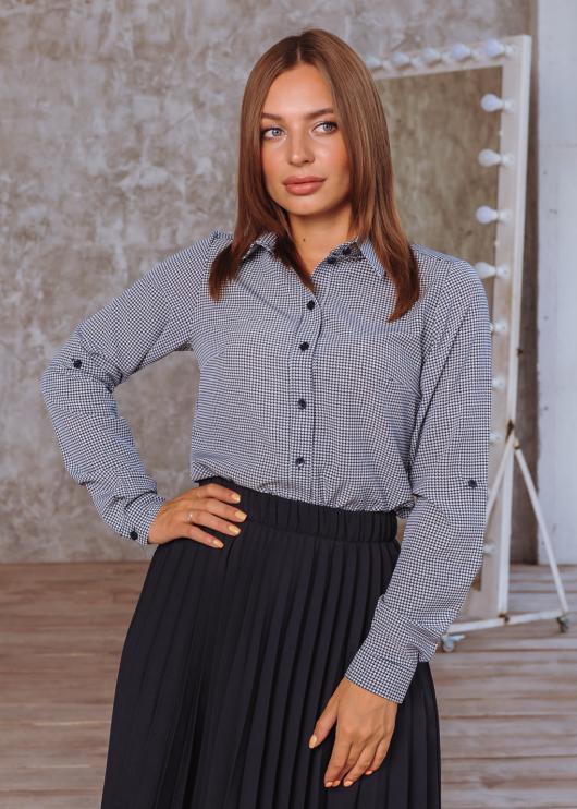 Рубашка Слава дизайн синяя с принтом лапка