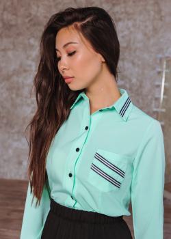 Рубашка Регина цвет светло-голубой