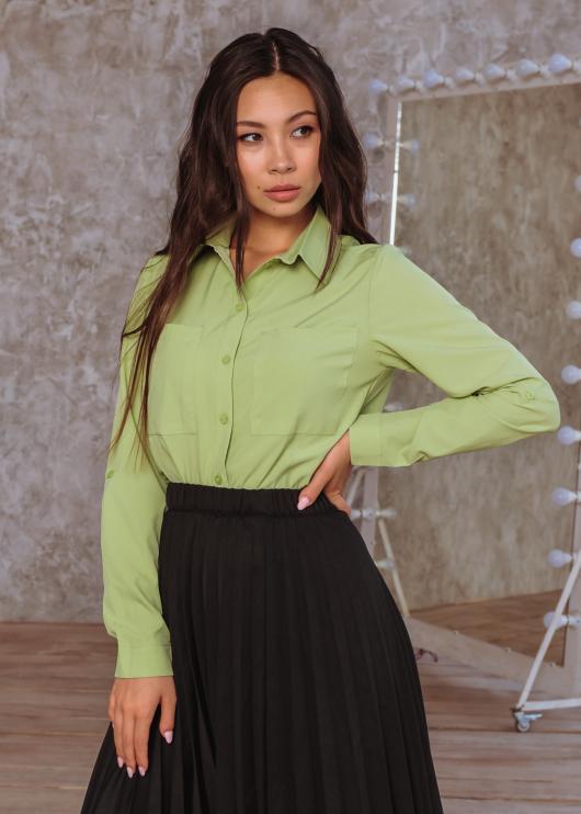 Рубашка Оскар оливковая
