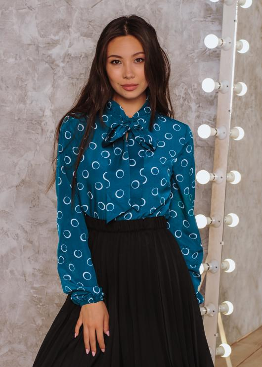 Блузка Алекс цвет голубой
