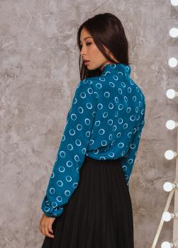 Блузка Алекс цвет бирюзовый