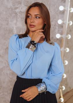 Блузка Стелла голубая