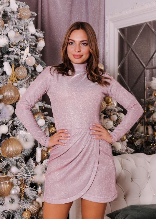 Платье вечернее торжественное розовое