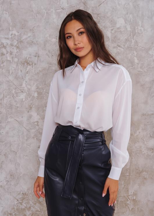Женская рубашка Ария белая