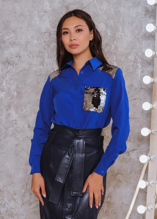 Рубашка Элла синяя