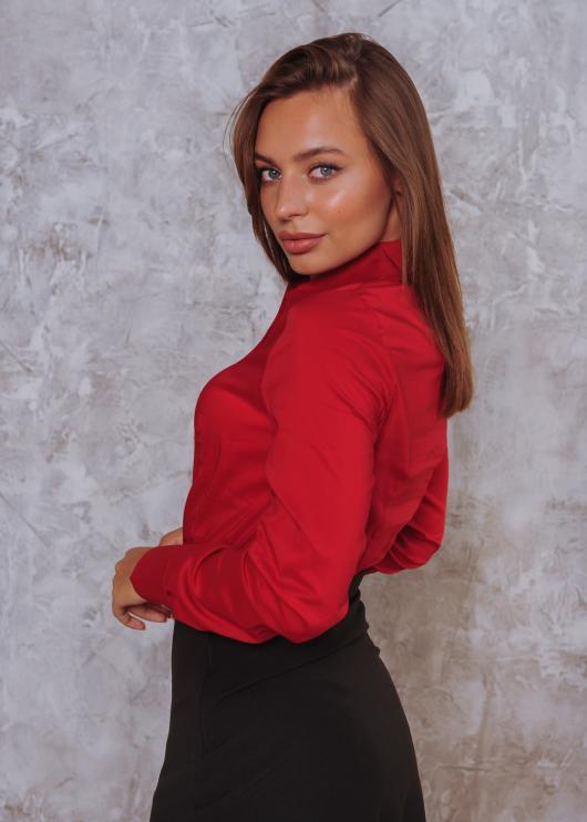 Женская рубашка Римма красная