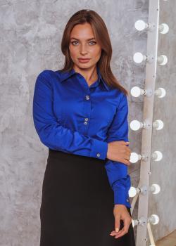 Женская рубашка Римма ярко-синяя