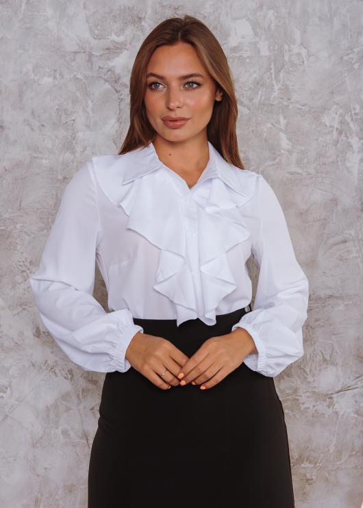 Женская блузка Элла цвет белый