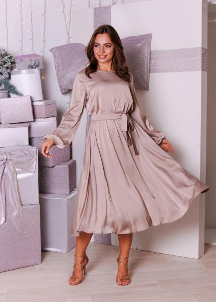 Платье Эльза кофейное