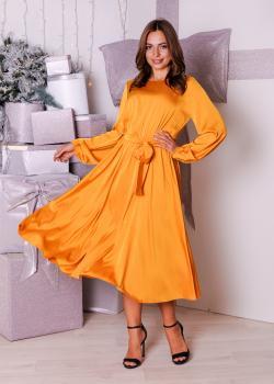Платье Эльза горчичное