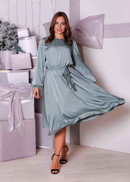 Платье Эльза изумрудное