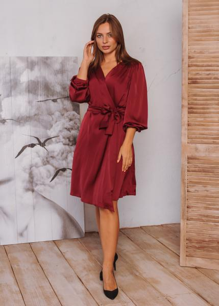 Платье Ирис бордовое