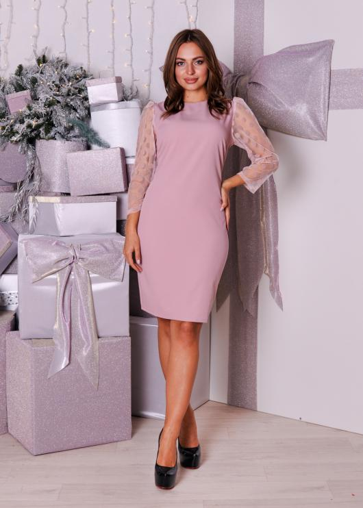 Платье Жаклин розовое