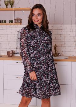 Женское платье Рюша с цветочным принтом