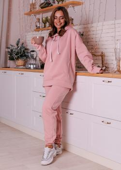 Женский костюм спортивный Клин (худи + штаны) розовый