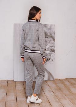Женский костюм Честер (куртка + брюки) серый