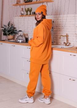 Женский костюм спортивный Клин (худи + штаны) желтый
