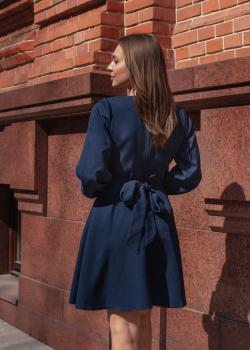 Платье-узел тёмно-синее