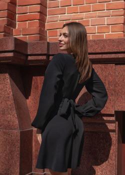 Платье-узел чёрное