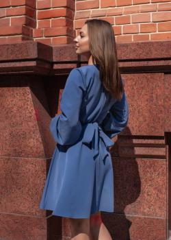 Платье-узел синее