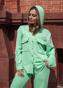 Женский прогулочный костюм салатовый