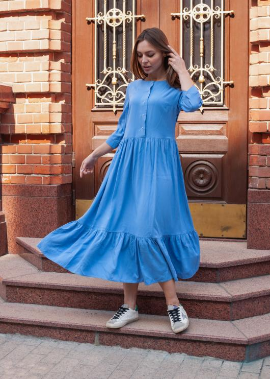 Платье Анита голубое