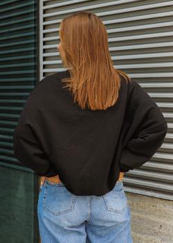 Женская теплая кофта Альфа черная