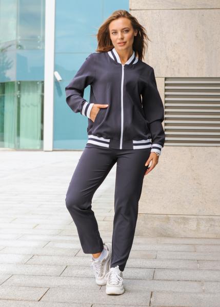 Женский костюм спортивный Зира (куртка + штаны) синий