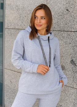 Женский костюм спортивный (худи + штаны) Ситти серый