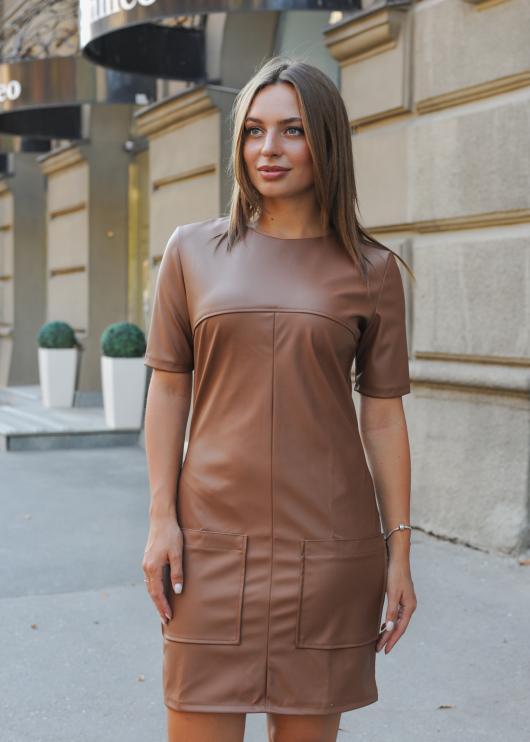 Платье Альфа коричневое
