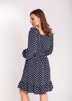 Платье короткое в горох