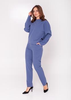 Женский костюм (кофта + брюки) синий
