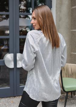 Женская блузка Тесс серебристая