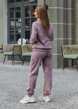 Женский костюм (гольф + штаны) вялая роза