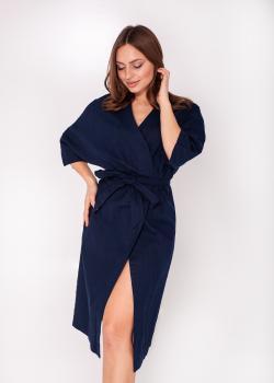Платье-кимано тёмно-синее
