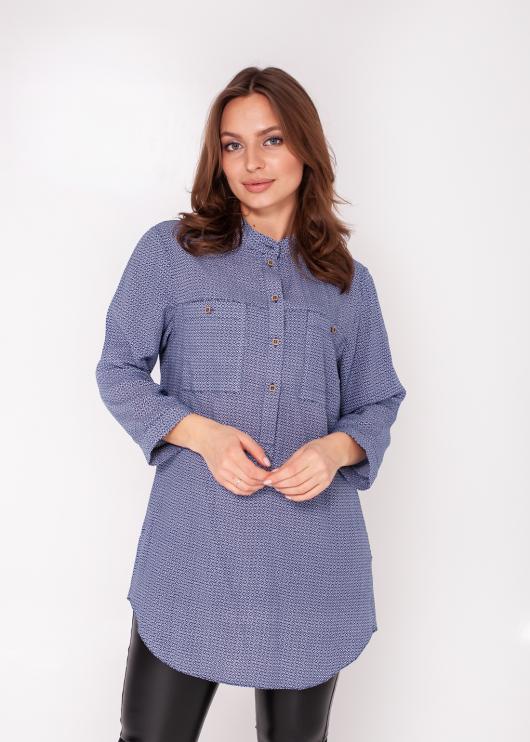 Женская рубашка синяя