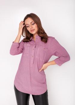 Женская рубашка розовая